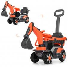 Детский электромобиль-толокар Экскаватор Bambi M 4141L-7 оранжевый