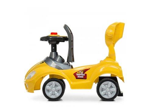 Толокар-каталка детская с родительской ручкой BAMBI M 4205-6 желтый