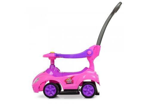 Толокар-каталка детская с родительской ручкой BAMBI M 4205-8 розовый