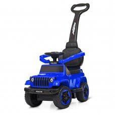 Каталка-толокар с родительской ручкой Полиция BAMBI M 4288-4 синий