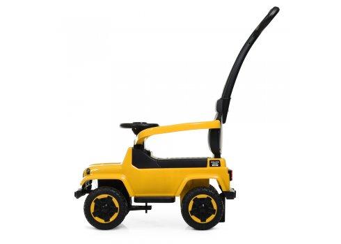 Каталка-толокар с родительской ручкой Полиция BAMBI M 4288-6 желтый