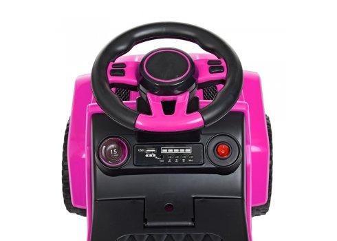 Каталка-толокар с родительской ручкой Полиция BAMBI M 4288-8 розовый