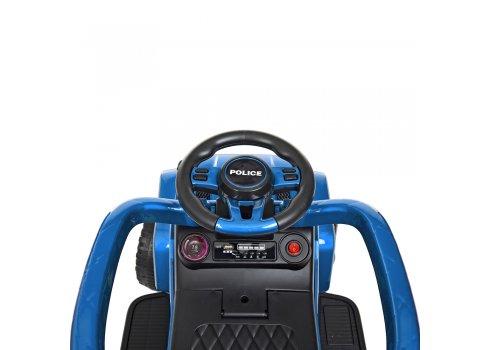 Каталка-толокар с родительской ручкой Полиция BAMBI M 4288S-12 синий покраска