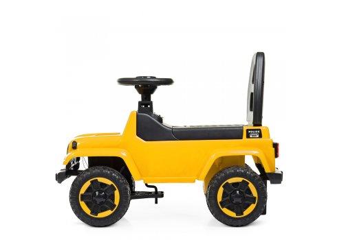 Каталка-толокар с магнитолой Полиция BAMBI M 4289-6 желтый