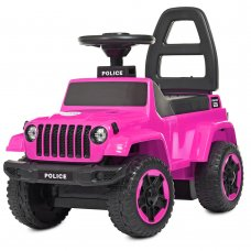 Каталка-толокар с магнитолой Полиция BAMBI M 4289-8 розовый