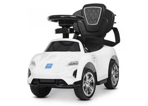 Толокар-электромобиль детский с родительской ручкой BAMBI M 4290-1 белый УЦЕНКА