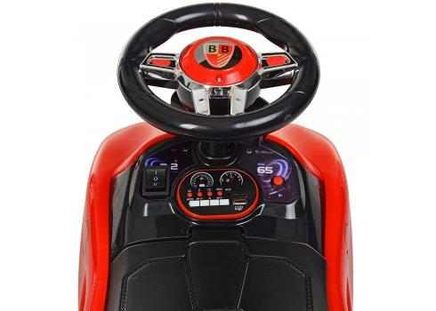 Толокар-электромобиль детский с родительской ручкой BAMBI M 4290-3 красный
