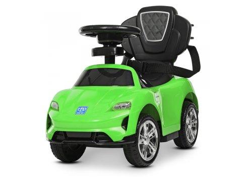 Толокар-электромобиль детский с родительской ручкой BAMBI M 4290-5 зеленый