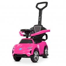 Толокар-электромобиль детский с родительской ручкой BAMBI M 4290-8 розовый