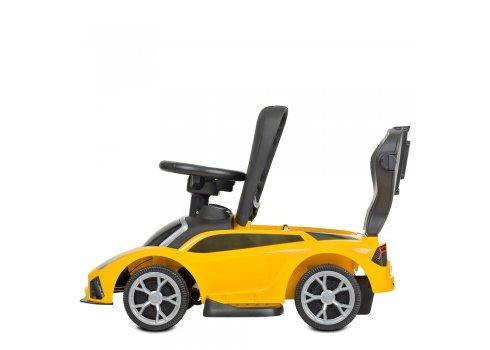 Детская машинка толокар Lamborghini с родительской ручкой BAMBI M 4316L-6 желтый