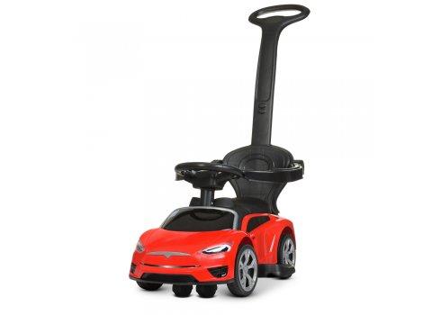Детский электромобиль каталка толокар в стиле Tesla M 4318L-3 красный