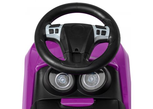 Детская каталка-толокар с кожаным сиденьем M 4322L-9 фиолетовый