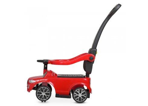 Детский толокар музыкальный с родительской ручкой Bambi Racer M 4511-3 красный