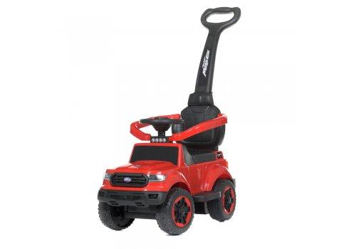 Детский толокар с мотором 25W и родительской ручкой Bambi Racer M 4564B-3 красный