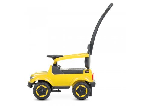 Детский толокар с мотором 25W и родительской ручкой Bambi Racer M 4564B-6 желтый