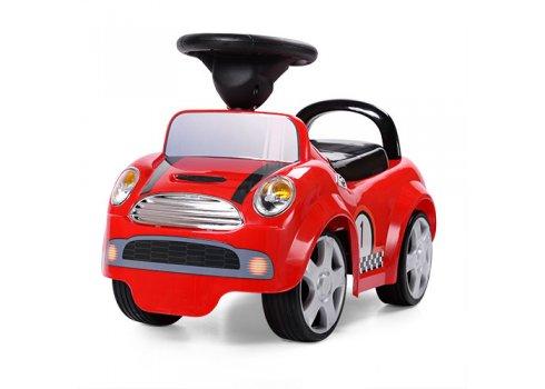 Каталка-толокар Mini Cooper на колесах с резиновым покрытием, HZ 536-3 красный
