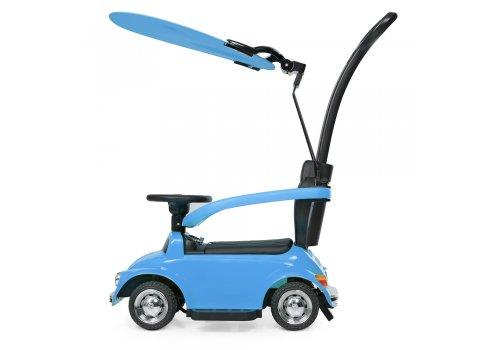 Детская машина 2в1 толокар-электромобиль Volkswagen Beetle JQ618L-4 синий