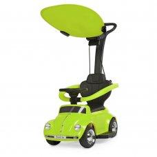 Детская машина 2в1 толокар-электромобиль Volkswagen Beetle JQ618L-5 зеленый