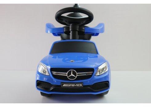 Толокар с родительской ручкой Mercedes 639-4 синий