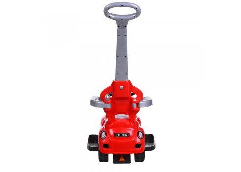 Каталка-толокар с родительской ручкой FD-6812-3 красный
