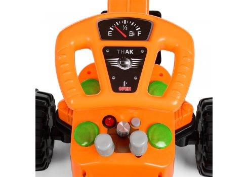Детский электромобиль Трактор с подвижным ковшом BAMBI M 4143L-7 оранжевый