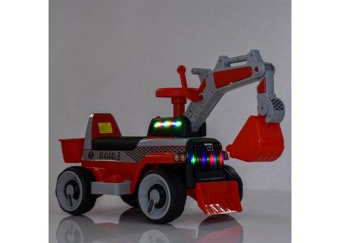 Детский электромобиль Трактор с подвижным ковшом BAMBI M 4144L-7 оранжевый