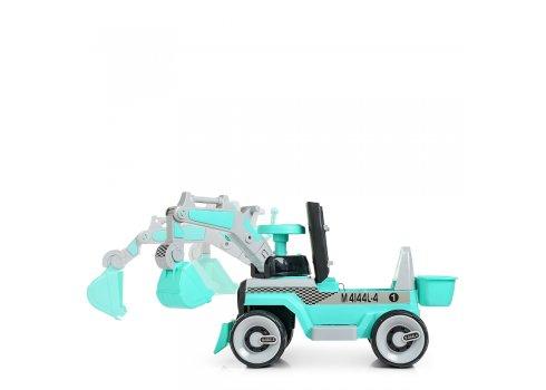 Детский электромобиль Трактор с подвижным ковшом BAMBI M 4144L-4 бирюза