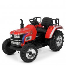 Большой трактор для детей на аккумуляторе Bambi M 4187BLR-3 красный