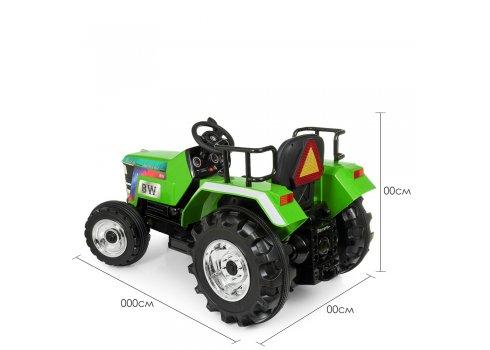 Большой трактор для детей на аккумуляторе Bambi M 4187BLR-5 зеленый