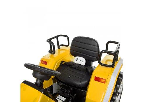 Большой трактор для детей на аккумуляторе Bambi M 4187BLR-6 желтый