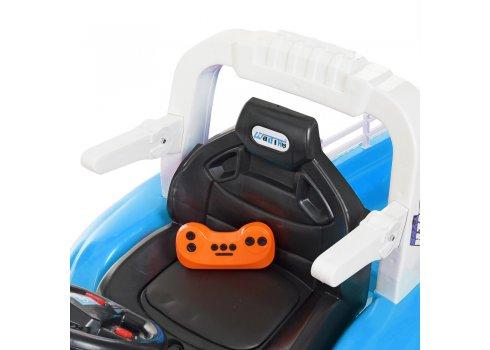 Детский электромобиль - Трактор на резиновых колесах Bambi M 4261ABLR(2)-4 синий