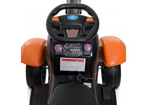Детский электромобиль Трактор Bambi M 4263EBLR-7 оранжевый
