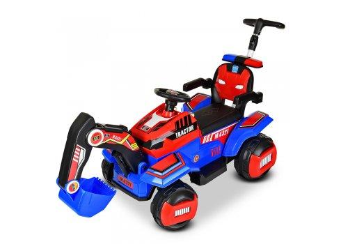 Детский трактор - экскаватор на аккумуляторе BAMBI M 4321LR-3-4 красно-синий