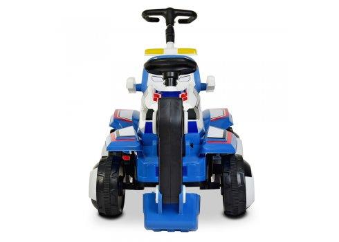 Детский трактор - экскаватор на аккумуляторе BAMBI M 4321LR-4-1 сине-белый