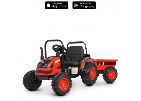 Детский электромобиль Трактор с прицепом Bambi Racer M 4419EBLR-3 красный