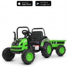 Детский электромобиль Трактор с прицепом Bambi Racer M 4419EBLR-5 зеленый
