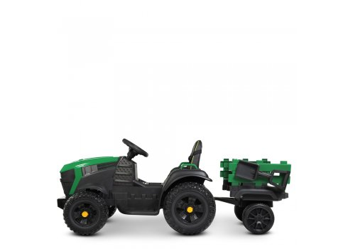 Детский электромобиль Трактор с прицепом BAMBI M 4463EBLR-10 зеленый