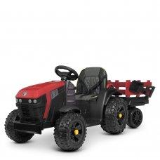 Детский электромобиль Трактор с прицепом BAMBI M 4463EBLR-3 красный