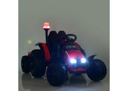 Детский трактор на аккумуляторе с прицепом Bambi M 4573EBLR-3 красный