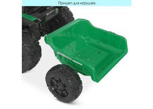 Детский трактор на аккумуляторе с прицепом Bambi M 4573EBLR-5 зеленый
