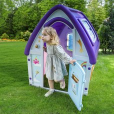 Детский игровой домик Unicorn Grand House 22-561 розово-фиолетово
