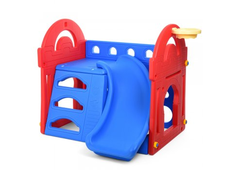 Детская горка-домик с баскетбольным кольцом Little slide M 5401-3-4