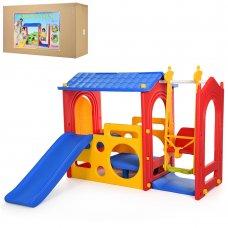 Детский игровой комплекс горки с качелями Super Playhouse with swing M 5404-3-4-6