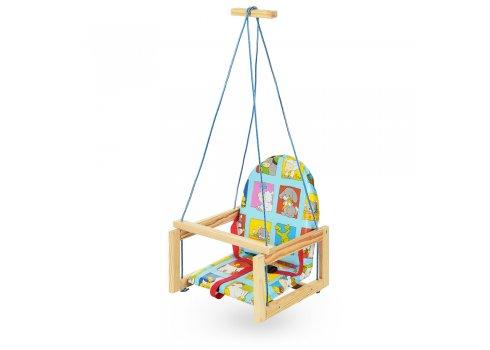 Детские деревянные подвесные качели на веревках, V 701-10 Звери