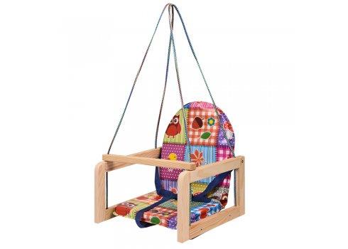 Детские деревянные подвесные качели на веревках, V 701-12