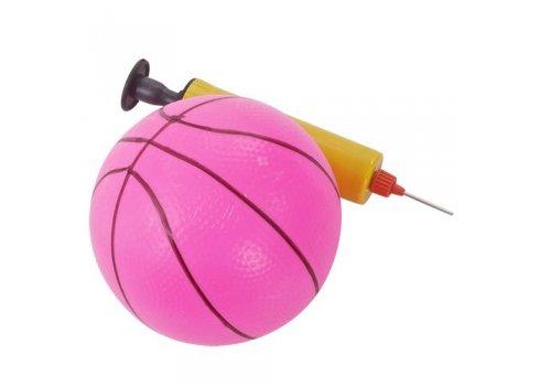 Детская горка с баскетбольным кольцом ЖИРАФ PINK