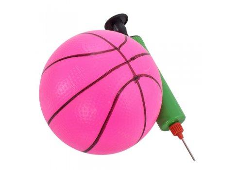 Детская горка с баскетбольным кольцом ЖИРАФ GREEN