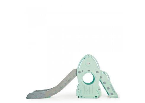 Детская горка для катания Ракета Bambi L-HJ01-5 мятный