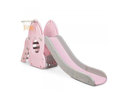 Детская горка для катания Ракета Bambi L-HJ01-8 розовый