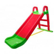Детская горка для катания 140 см Фламинго 0140/01 красный с зеленым